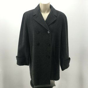 Anne Klein Womens 8 Double Breasted Classic Pea Co